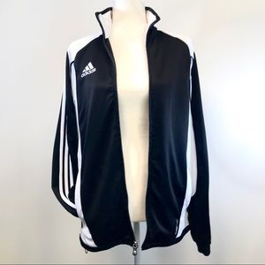 Adidas Cima365 Black White striped track jacket  S